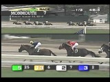 Announcer Larry Collmus calls the 7th at Monmouth Park