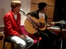 "Justin Bieber singing ""Because Of You"" and ""Never Let You Go"" 2010"