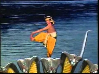 Krishna dance on Kaliya - Krishna.