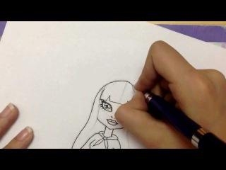 Как нарисовать куклу из Монстр Хай
