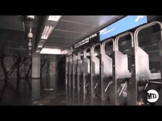 Четверть линий Нью-Йоркского метро затоплены в результате супершторма Сэнди (MTA)