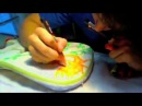 Как росписать гитару красками-маркерами uni Posca
