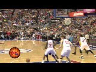 Kobe Hangs and Hits / Lakers & 76ers /