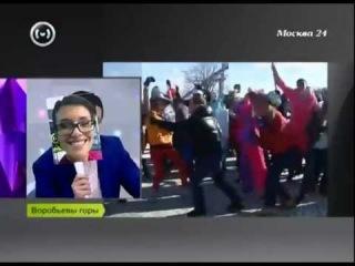 Harlem Shake во время прямого эфира Новостей (Москва, Россия)