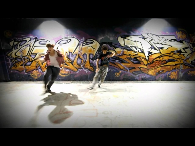 C-CLOWN의 멤버- ROME(롬)과 마루의 데뷔 전 댄스0