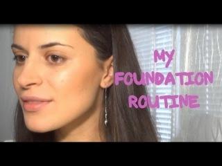 Как я НАНОШУ ТОНАЛЬНЫЙ крем?/My foundation routine