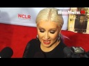 Christina Aguilera asked about reaching out to Britney Spears at NCLR Alma Awards 2012