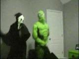 Scream and Spiderman Unite in a Dance