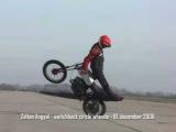 Angyal Zoltan - Switchback circle wheelie stunt MZ 150