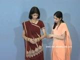 How To wear Seedha Pallu Saree