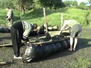 Сплав на плоту по р.Северский Донец май 2010года 1часть.