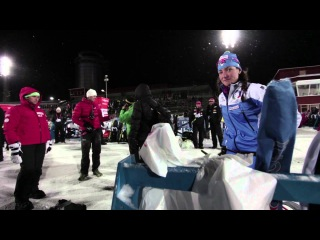 Fans, Athletes and Fun on a Cold Night