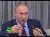 Вырезанная во многих видео концовка пресс-конференции с главными редакторами СМИ от 18 января.