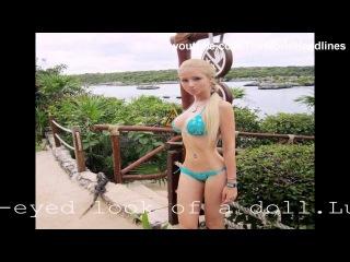 Real life barbie doll Valeria Lukyanova in bikini