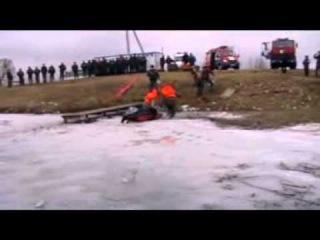 Спасение утопающих на льду (Город Глубокое - 2012)