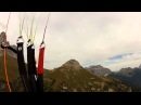 Crash hang glider with paraglider at Col Rodella
