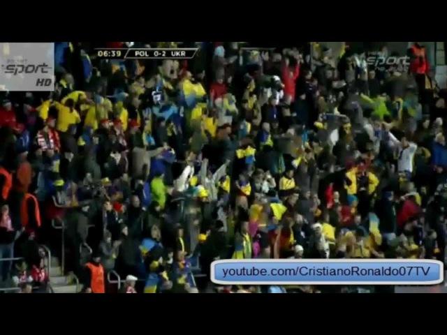 Polska - Ukraina (1-3) Oleh Gusev Bramka Video Goal - 22-03-2013