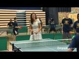 Smashing Kate proves dab hand at ping pong...