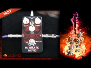 JOYO JF-02/ Guitar Effect Pedal (OCD) Ultimate Drive, electric bass dynamic compression effects.flv