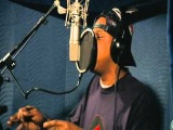 Jay-Z recording vocals for