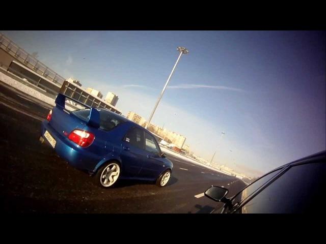 BMW f10 550X 470hp vs WRX Sti 315hp (race 2)