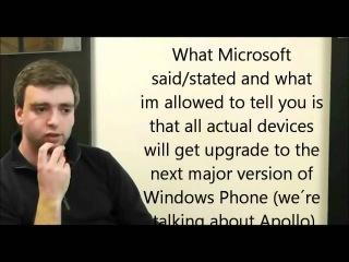 Microsoft Evangelist confirm Windows Phone 7 handsets will be upgraded to Windows Phone 8