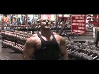 Super Freak robert burneika training shoulders & calves motivation video 2010