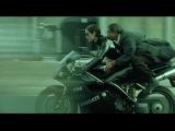 The Matrix Reloaded. Trinity on her Ducati motorcy.