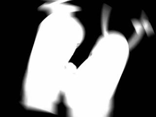 Аниме-AMV Клип (Bad Apple!) Original animation (Rus Sub - Рус Суб)