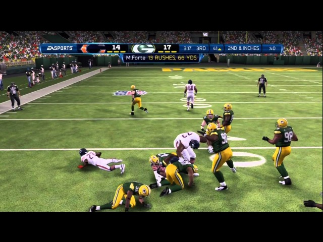 Madden NFL 13 Gameplay (Connected Careers Week 2): Chicago Bears vs. Green Bay Packers - Xbox 360