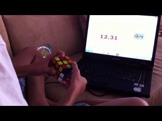 сборка кубика рубика на скорость | sub. 25 avg 5 1\2