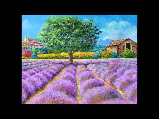 LAVENDER FIELDS paintings by Jean-Marc JANIACZYK, music Erik Satie Gymnopedie 1