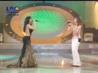 Haifa Wehbe & Bahaa' El Kafy - Alloli Ano Kalam (Star Academy Performance)