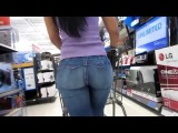 Brazilian Ass Phat Booty Jeans Latina Sexy Candid Latina in Hot Pants  82