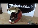 XRobots - Iron man Helmet motorized faceplate and light up eyes, electronics and mechanics