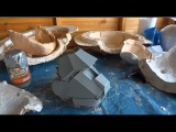 XRobots - Iron Man Armour Boots, from foam to fiberglass, moulding and casting