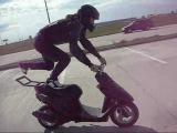 scooter stunt yamaha jog