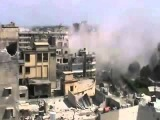 Heavy shelling on Homs city committed by the Iranian terrorist Bashar Al-Assad, Syria 20.04.2012