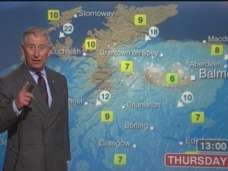 принц Чарльз ведёт погоду на BBC (Prince Charles reads the BBC Scotland weather forecast)