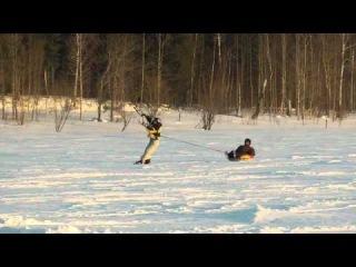 Сноукайтинг Flysurfer 18.12.2011 Нефтеюганск