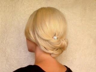 Легкая и быстрая праздничная/вечерняя/свадебная прическа на средние волосы своими руками