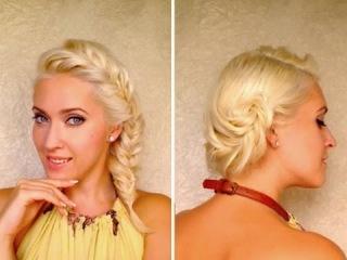 Модные прически с плетением колосок на средние волосы Французская коса своими руками