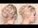 Свадебная/праздничная/вечерняя прическа с плетением в греческом стиле на средние и длинные волосы