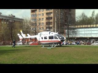 Вертолёт МЧС у метро Измайловская