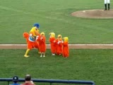 The Famous San Diego Chicken and little chickens