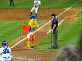 Famous Chicken gets thrown out of the game!