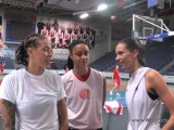 B. Hammon, S. Augustus, C. Dupree, E. Belyakova - interview before the F8