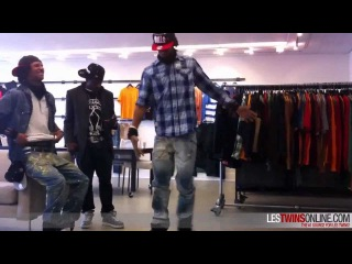 Les Twins + Bobby Mileage @ Rocawear Offices NYC - Clip 1