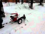 Мотоблок Фаворит уборка снега.flv