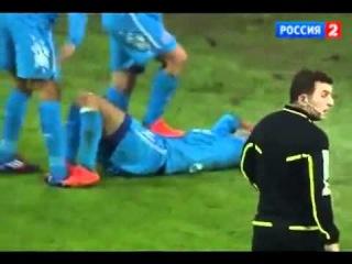 Andrei Arshavin Stomp on injured teammate Zenit - CSKA 2-0 14 04 2012